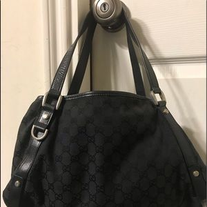 GUCCI Shoulder canvas black bag